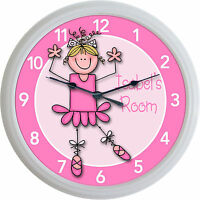 Ballet Ballerina Dance Custom Personalized Wall Clock Girl Studio 10