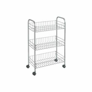 3-Levels-Allzweckwagen-Rolling-Shelf-Trolley-Nieschenwagen-Kitchen-Car-Floor