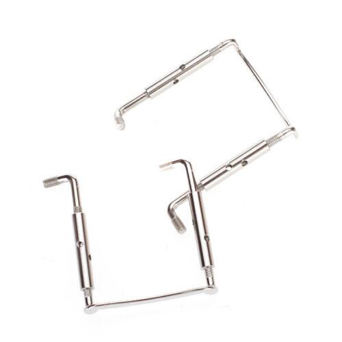 2pcs Silber Metall Kinnhalter Klemmschraube für 4//4 Violine Einfach zu