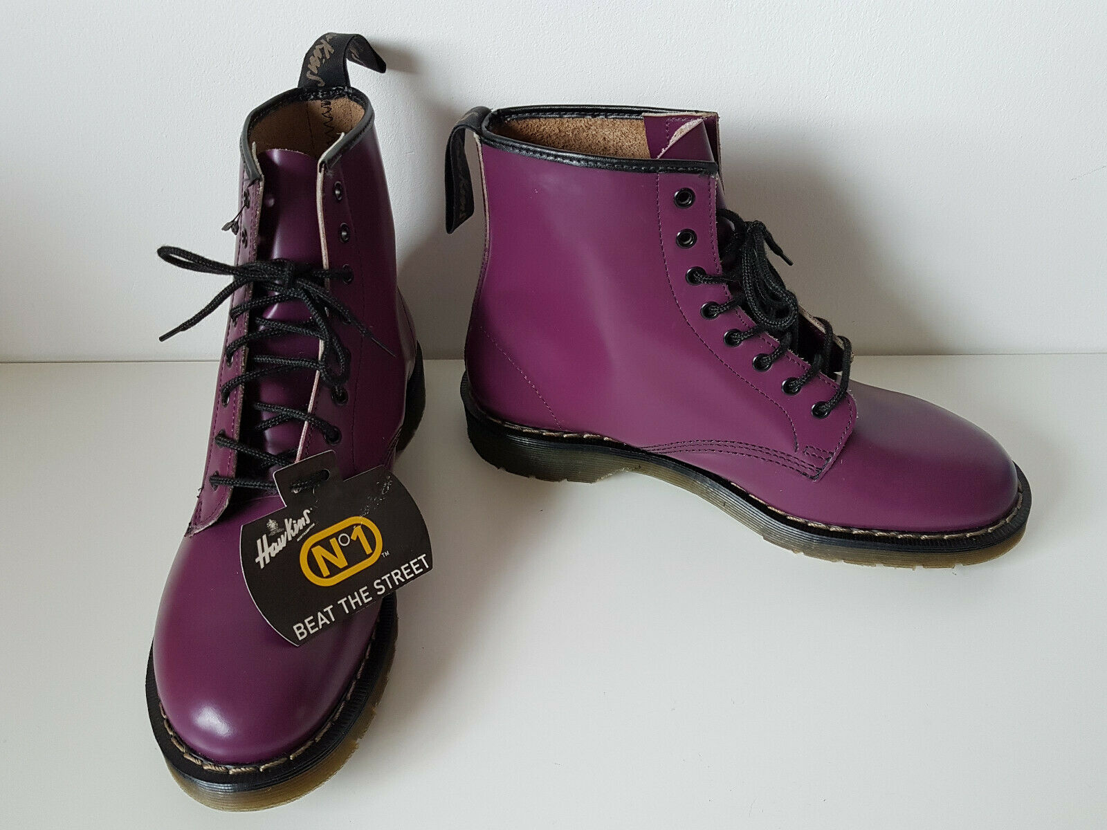 venta al por mayor barato Nuevo Nuevo Nuevo e 42 US 10 Hawkins (Dr Martens) botas púrpura 1460 Raro Retro Inglaterra  autentico en linea