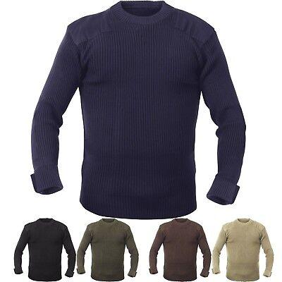 Brown Military Army Commando Crew Neck Acrylic Sweater Rothco 5415