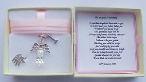 Details About 1st Birthday Gift Guardian Angel Personalised Keepsake Present Girl MEMORY BOX