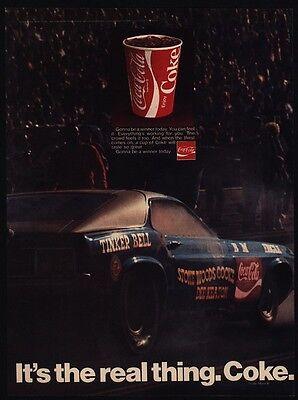 Funny Car VINTAGE AD COKE 1970  COCA COLA Drag Race Car Driver