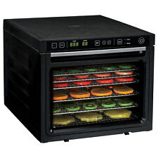 6-Tray Food Dehydrator Machine with Stainless Steel Racks Healthy Fruit Jerky