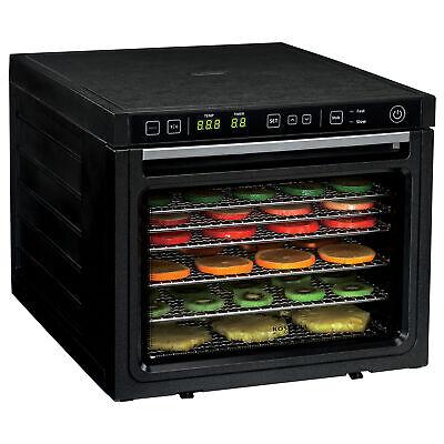 6-Tray Food Dehydrator Machine with Stainless Steel Racks Healthy Fruit Jerky