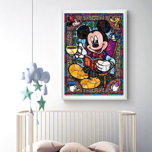 Cycle 5D Diamond-Peinture Cross stitich Mickey Mouse cross stitch Souvenir