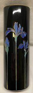 Vintage-Otagiri-Blue-Iris-Flower-Vase-Japan