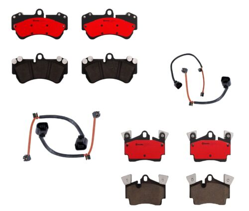 Brembo Front and Rear Ceramic Brake Pads Kit for Cayenne Touareg with 330mm Disc