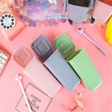 Trash Can Recycling Mini Dustbin Storage Bin-Shape Pen Plast Holder L0I5 L3E0