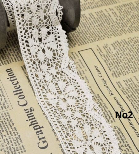 3m Cotton crochet lace edge trim white Ribbon Sewing Crafts NEW gift wrapping