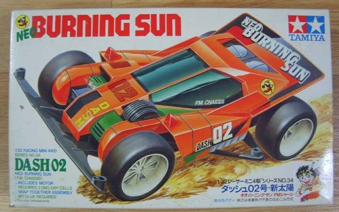 Tamiya BURNING SUN DASH2   1 32 Racing Mini 4wd Series NO.34 NEW