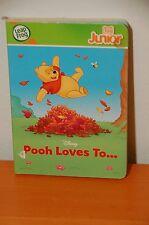 Leap Frog Tag Junior Walt Disney Pooh Loves To- Hard Back Book **READ**