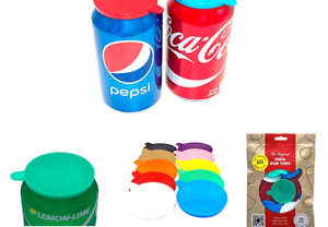 Soda-Pop-Tops-12-Pack-Can-Lid-Covers-Assorted-Red-White-Blue-Green