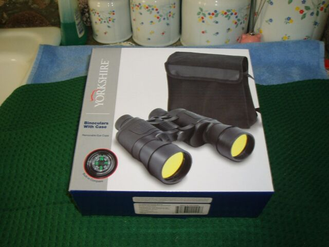 Binoculars w Carrying Case, Sturdy Rubberized Housing, Yorkshire, New in box