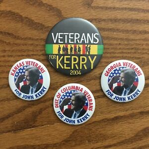 2004-JOHN-KERRY-VETERANS-GEORGIA-KANSAS-DC-political-campaign-buttons-pins