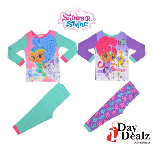 Nickelodeon filles taille 2 T SHIMMER /& SHINE 4-PC Pajama Set Sleepwear 21 Hi 011 tlldz
