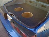 Fits 79-93 Ford Mustang (fox Body) Custom Sub Enclosure Speaker Subwoofer Box