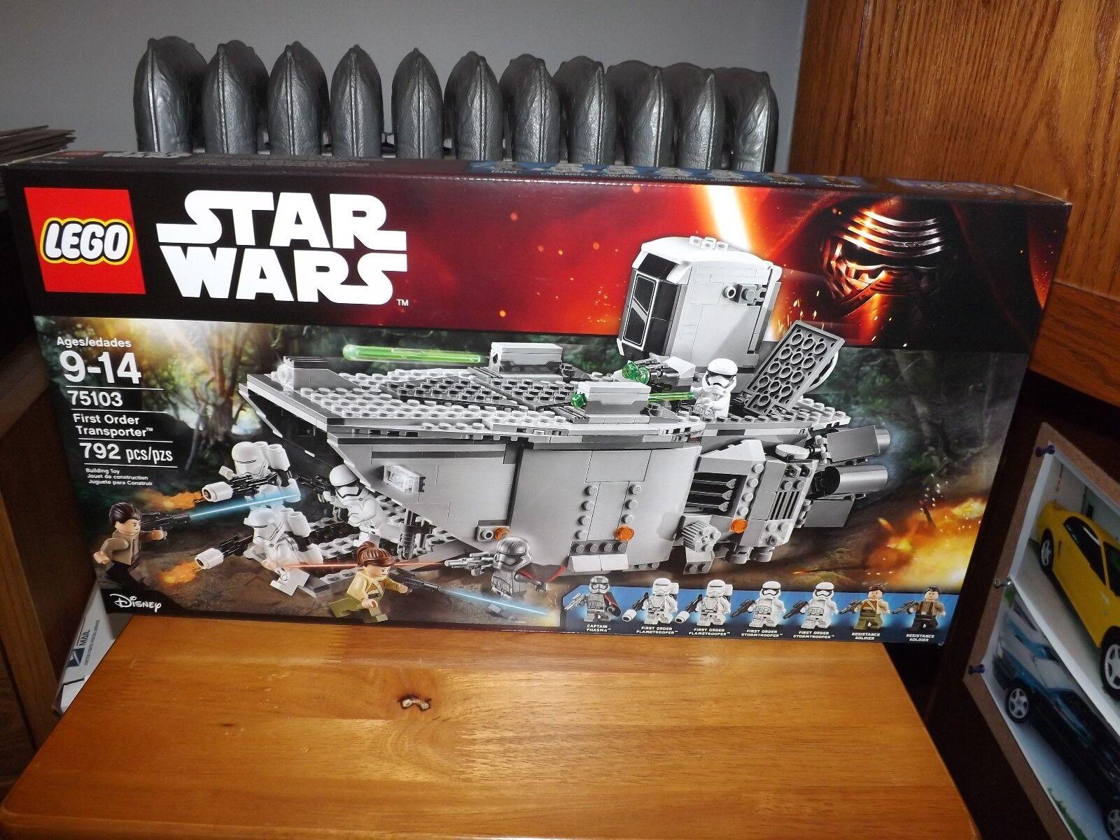 LEGO, STAR WARS, FIRST ORDER TRANSPORTER, KIT  75103, 792 PIECES, NIB, 2015