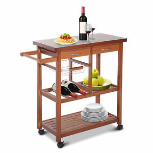 Wooden Rolling Kitchen Island Trolley Cart Storage Shelf W/ Drawers on stand with baskets, hutch with baskets, kitchen island carts on wheels, rack with baskets, storage with baskets, kitchen carts lowe's, kitchen kart, roller carts with baskets, wire utility carts with baskets, cabinet with baskets, kitchen wire baskets, organizing with baskets, kitchen shelf baskets, kitchen with cozy fireplace, kitchen carts on sale, kitchen carts ikea utility, kitchen carts for small kitchens, kitchen cabinet slide out baskets, kitchen island with butcher block top, kitchen utility carts at target,