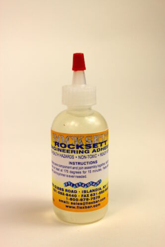 High-Temperature Rocksett, Adhesive Ceramic Cement - 2 oz. - #15014