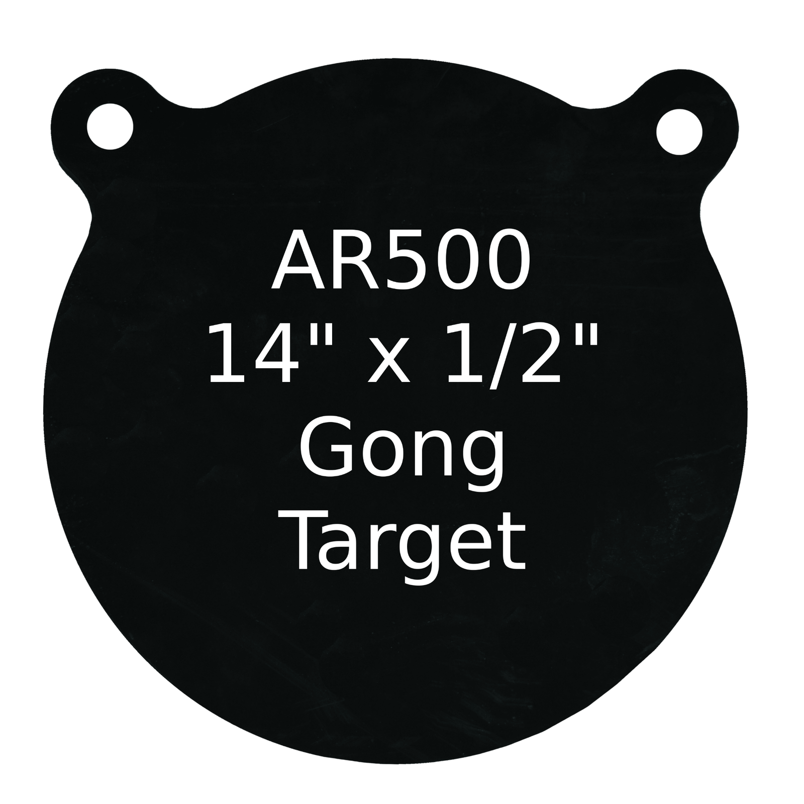 Gong de destino de acero uno AR500 1 1 1 2  X 14  rango de práctica de tiro Pintada De Negro 22a16c