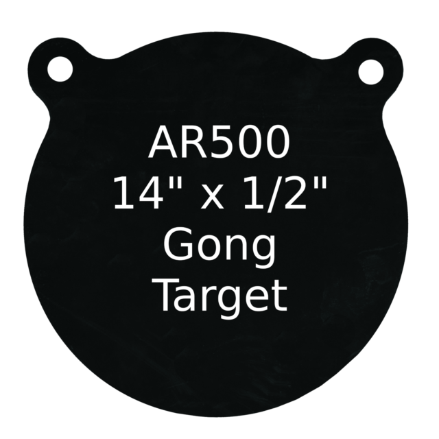 """Set of 2 AR500 Steel Target Gong 1//2/"""" x 8/"""" Painted Black Shooting Practice Range"""