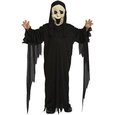 Boys Screamer Ghost Costume Demon Robe Halloween Fancy Dress Child Kids Outfit