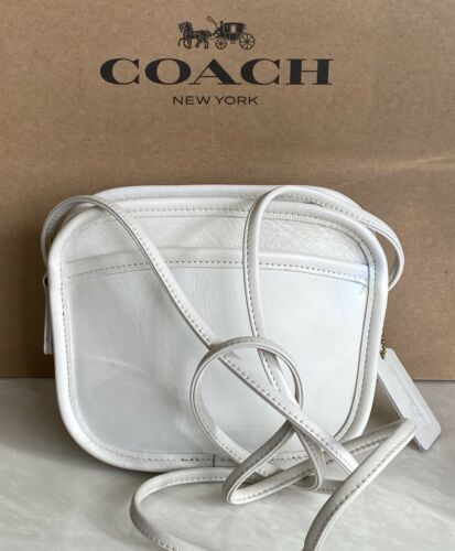 COACH VINTAGE HADLEY WHITE LEATHER CROSSBODY 9935