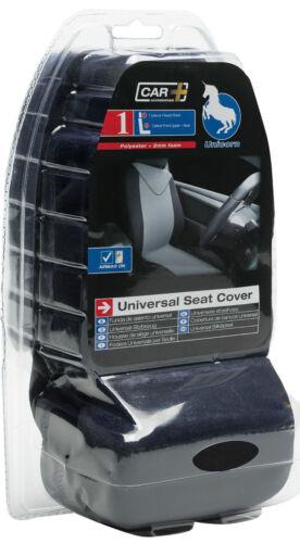 BLACK Sumex Unicorn Universal Single Padded Foam Comfort Front Car Seat Cover