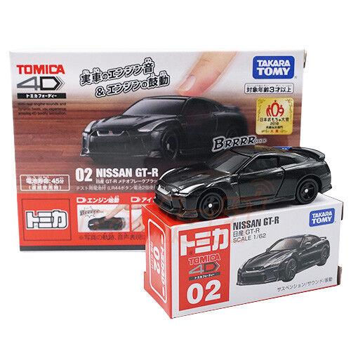 Takara Tomy TD Tomica 4D-02 1//62 Nissan GT-R Black Ver Scale Model Car #VX616818