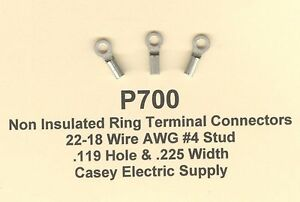 100 non insulated ring x small terminal connector 22 18 wire gauge image is loading 100 non insulated ring x small terminal connector keyboard keysfo Gallery