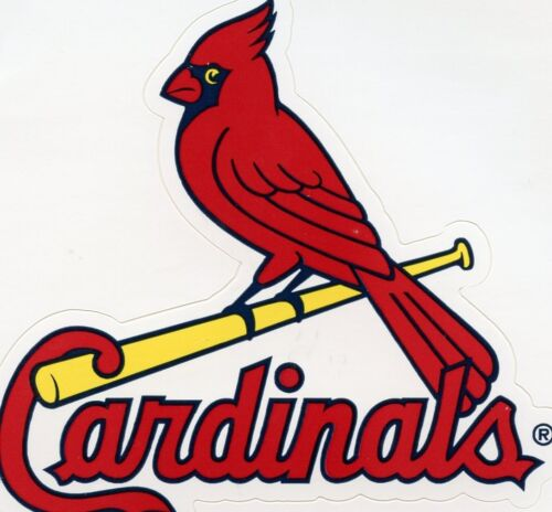 VINTAGE ST LOUIS CARDINALS BASEBALL TEAM ISSUED STICKER  SQUARE 1990/'S