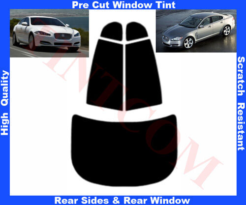 Pre Cut Window Tint Jaguar XF 4D 20082014 Rear Window & Rear Sides Any Shade