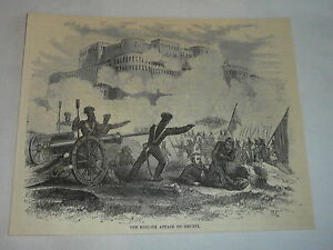 1878-Rivista-Incisione-Inglese-Attack-On-Ghuzni-Afghanistan