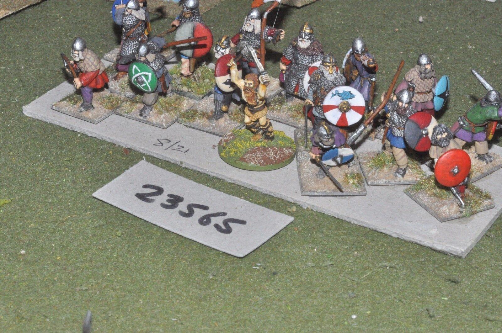 25mm dark ages   viking - warriors 17 figures - inf (23565)