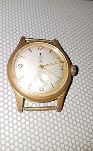 Herrenuhr-Armbanduhr-mechanisch-Handaufzug-goldfarben