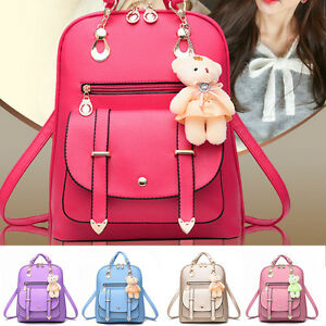 2ab54fcfdc91 Women s Casual Backpack Shoulder Bag Ladies Travel Handbag School ...