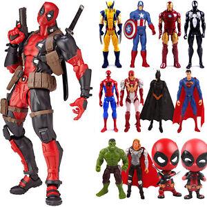 Marvel-Avengers-Deadpool-Spiderman-Super-Hero-Model-PVC-Action-Figure-Doll-Toys