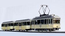 Straßenbahn Modell Kartonbausatz Typ 22 Leipzig mit 2 BW Typ 61 Maßstab 1:87-H0