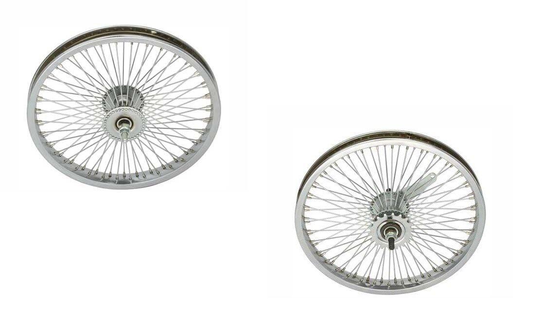 BICYCLE  16  STEEL WHEEL SET W 72 SPOKES BEACH CRUISER LOWRIDER BMX MTB CYCLIN  save up to 70% discount