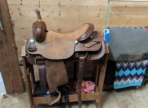 "17"" Sanchez Saddlery Cutting Saddle"