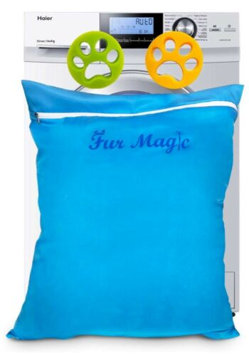 Fur Magic Laundry Pet Bag With 2 Hair Catchers For Washing Machine