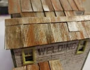Simulated Corrugated Metal Roofing Self Sticking Ho Scale