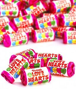 Mini Love Heart Rolls Party Bag Fillers Retro Hearts Wedding Favours Sweet Favor