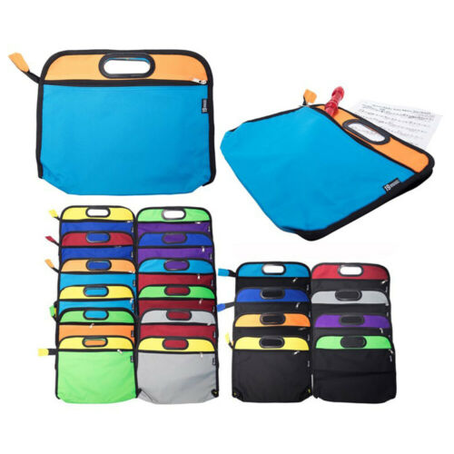 2 Colour Combination School Music Zip Bag A4 Sheet Books Recorder Kids Learner
