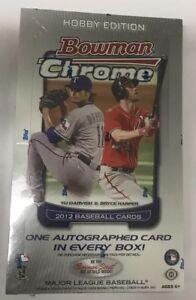 2012-Bowman-Chrome-Baseball-Hobby-Box-Factory-Sealed