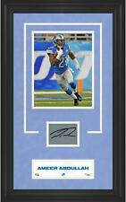 Ameer Abdullah Lions Framed 8x10 Photo & Signed Card - Fanatics