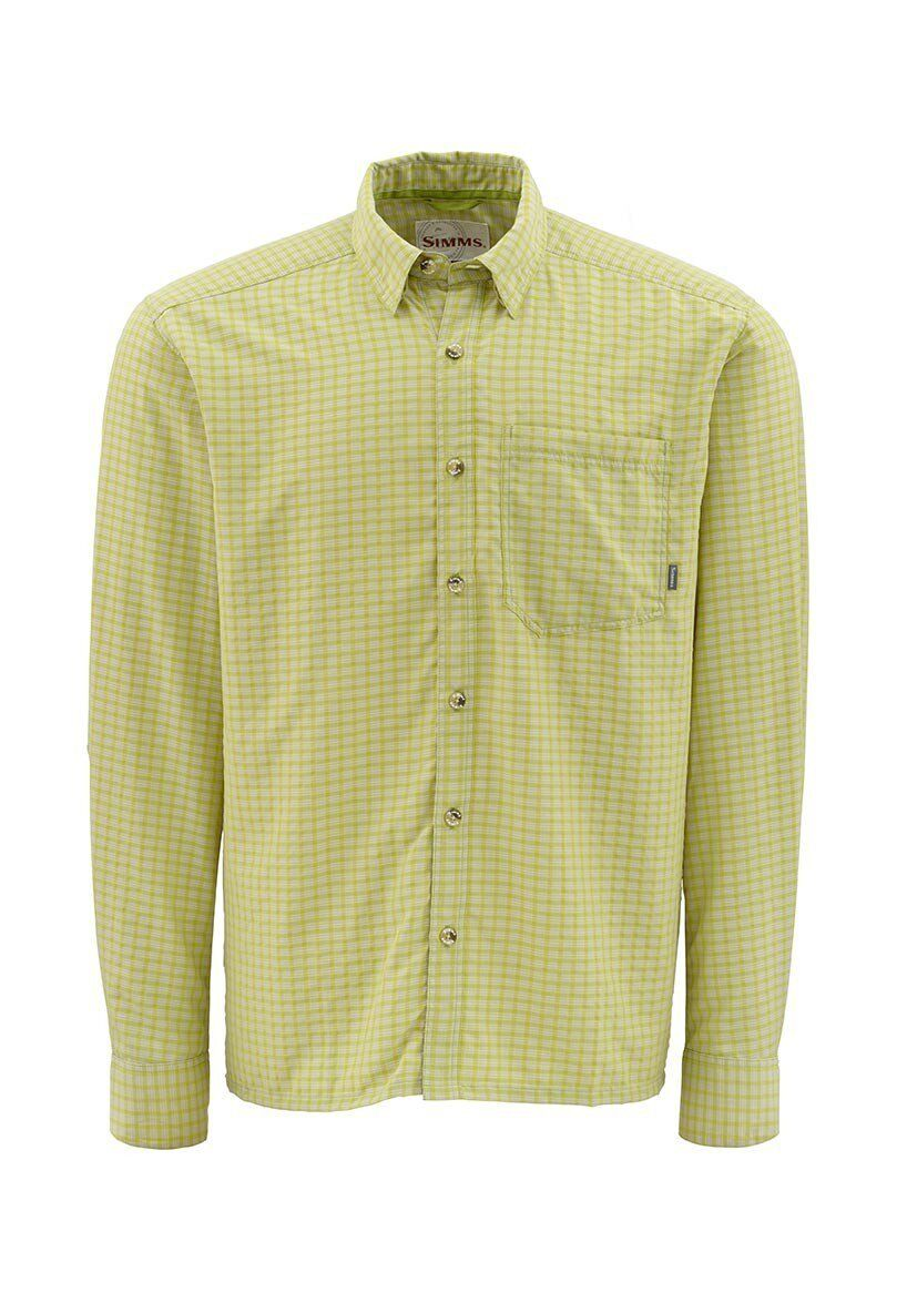 Simms MORADA Long Sleeve Shirt  Citron NEW  Closeout Size Small