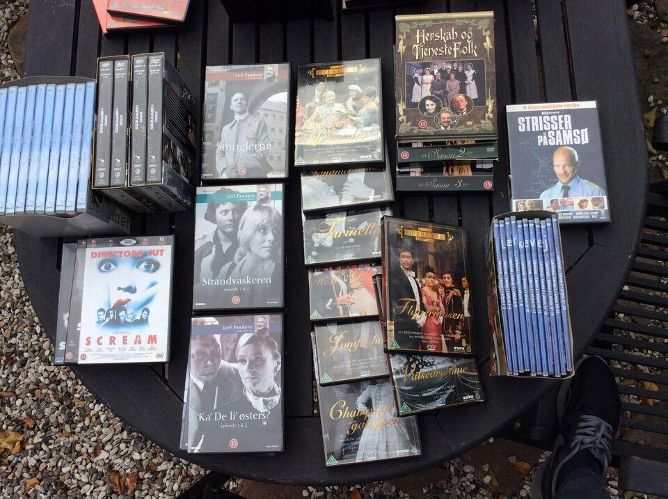 Kasse med, DVD, TV-serier