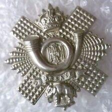 Badge-Highland Light Infantry Officers Cap Badge, HLI Badge (White Metal,Genuine